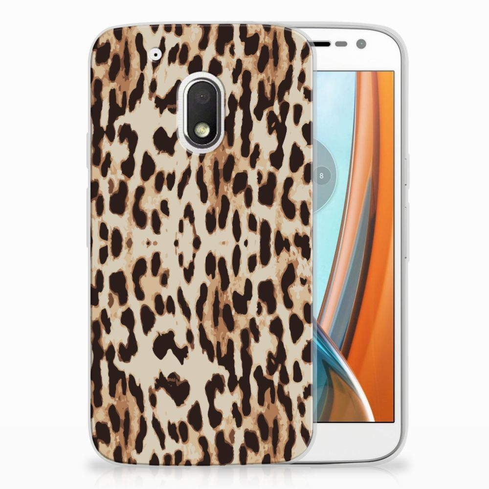Motorola Moto G4 Play Uniek TPU Hoesje Leopard