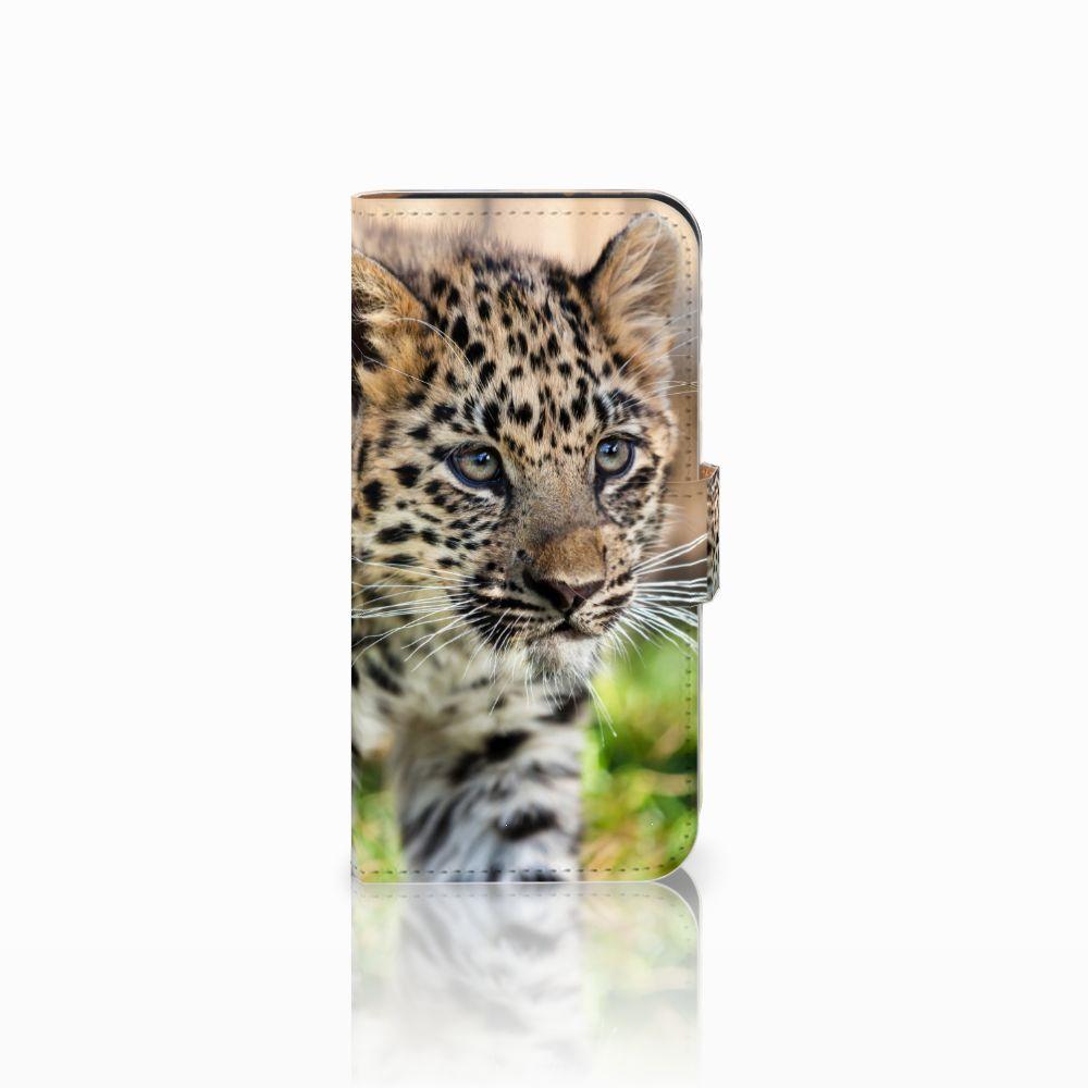 HTC One Mini 2 Uniek Boekhoesje Baby Luipaard