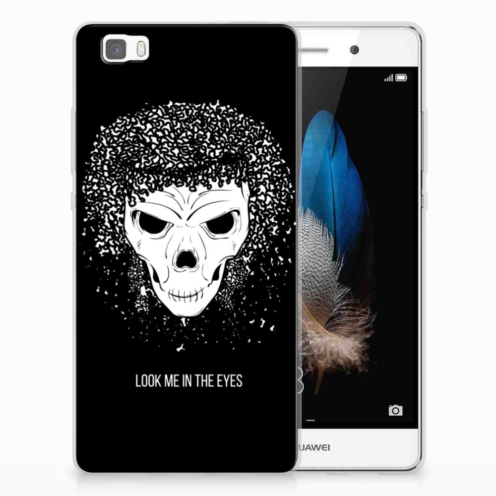 Silicone Back Case Huawei Ascend P8 Lite Skull Hair