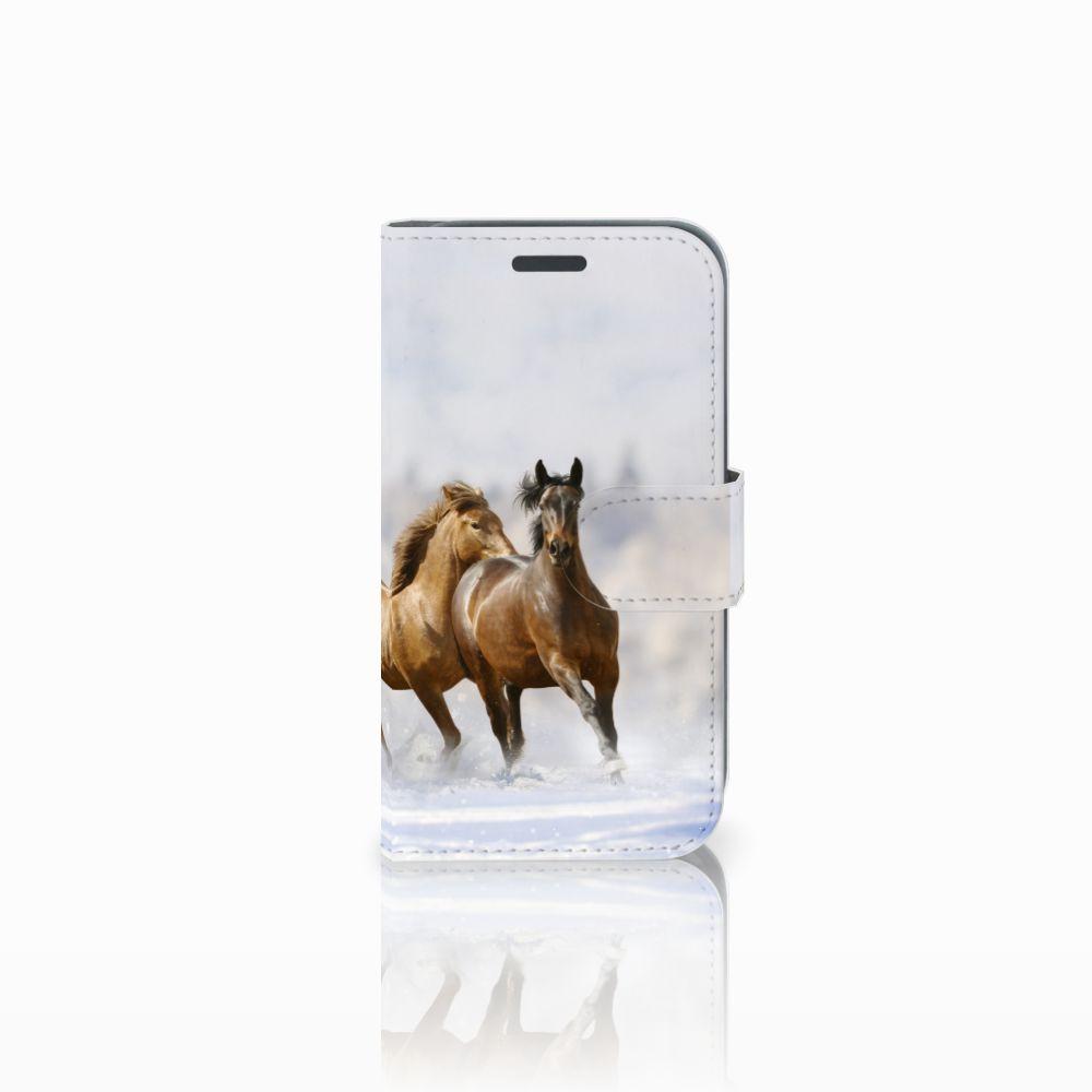 Samsung Galaxy J1 2016 Uniek Boekhoesje Paarden