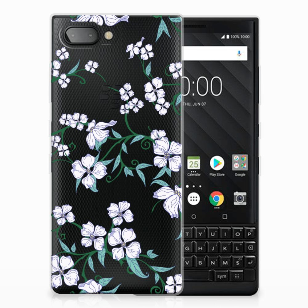 BlackBerry Key2 Uniek TPU Hoesje Blossom White
