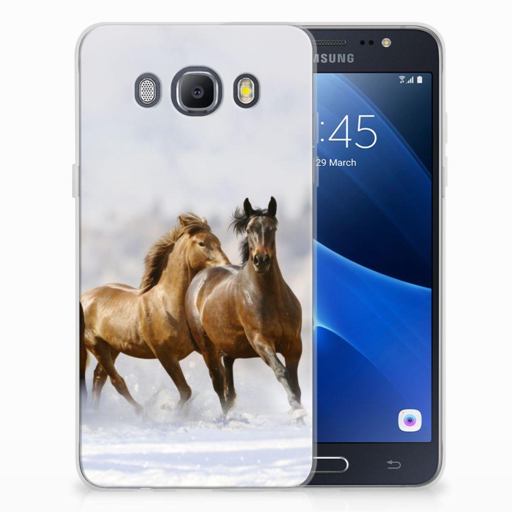 Samsung Galaxy J5 2016 TPU Hoesje Paarden