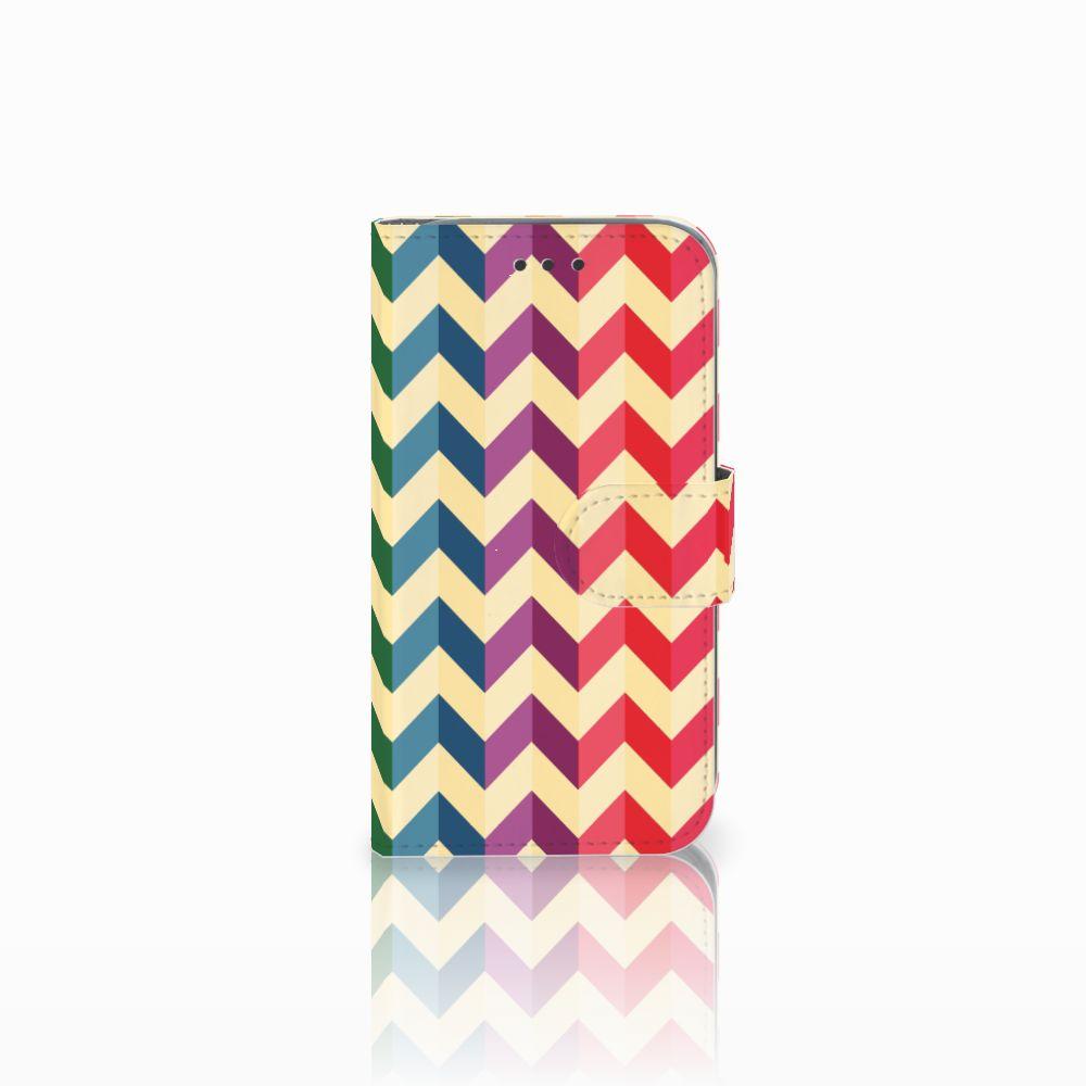 Samsung Galaxy Core Prime Uniek Boekhoesje Zigzag Color