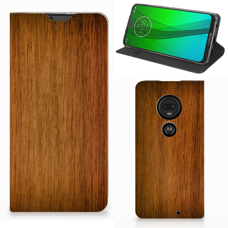 Motorola Moto G7 | G7 Plus Book Wallet Case Donker Hout