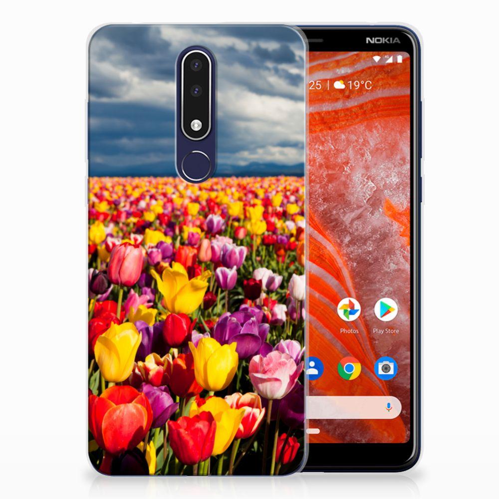 Nokia 3.1 Plus TPU Case Tulpen