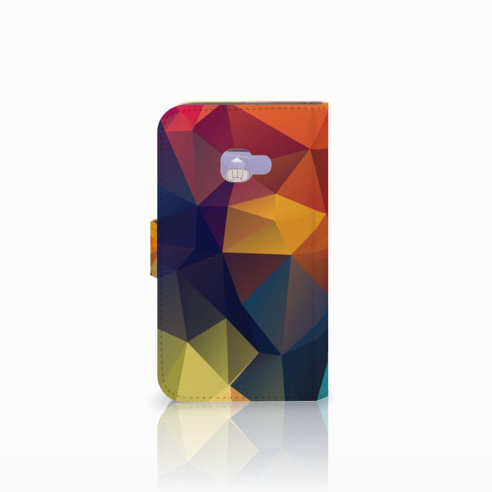 Samsung Galaxy Xcover 4   Xcover 4s Bookcase Polygon Color