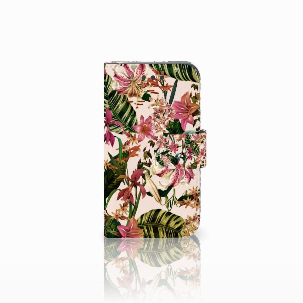 Samsung Galaxy Core 2 Uniek Boekhoesje Flowers