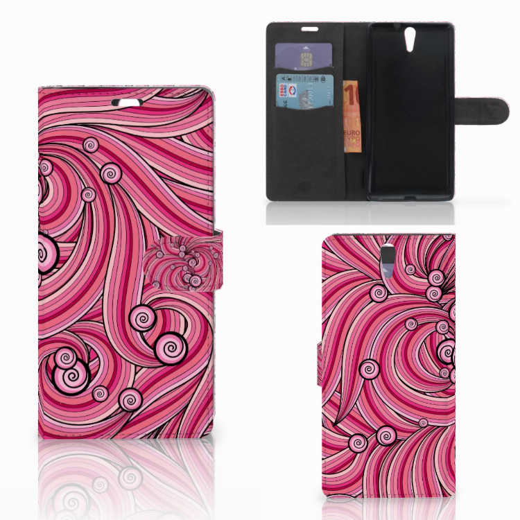 Sony Xperia C5 Ultra Hoesje Swirl Pink