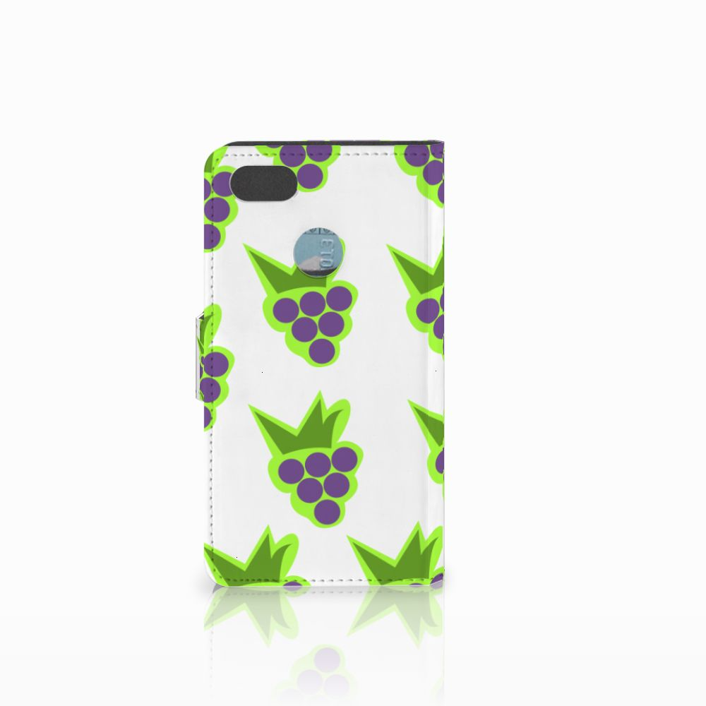 Huawei Y6 Pro 2017 Book Cover Druiven