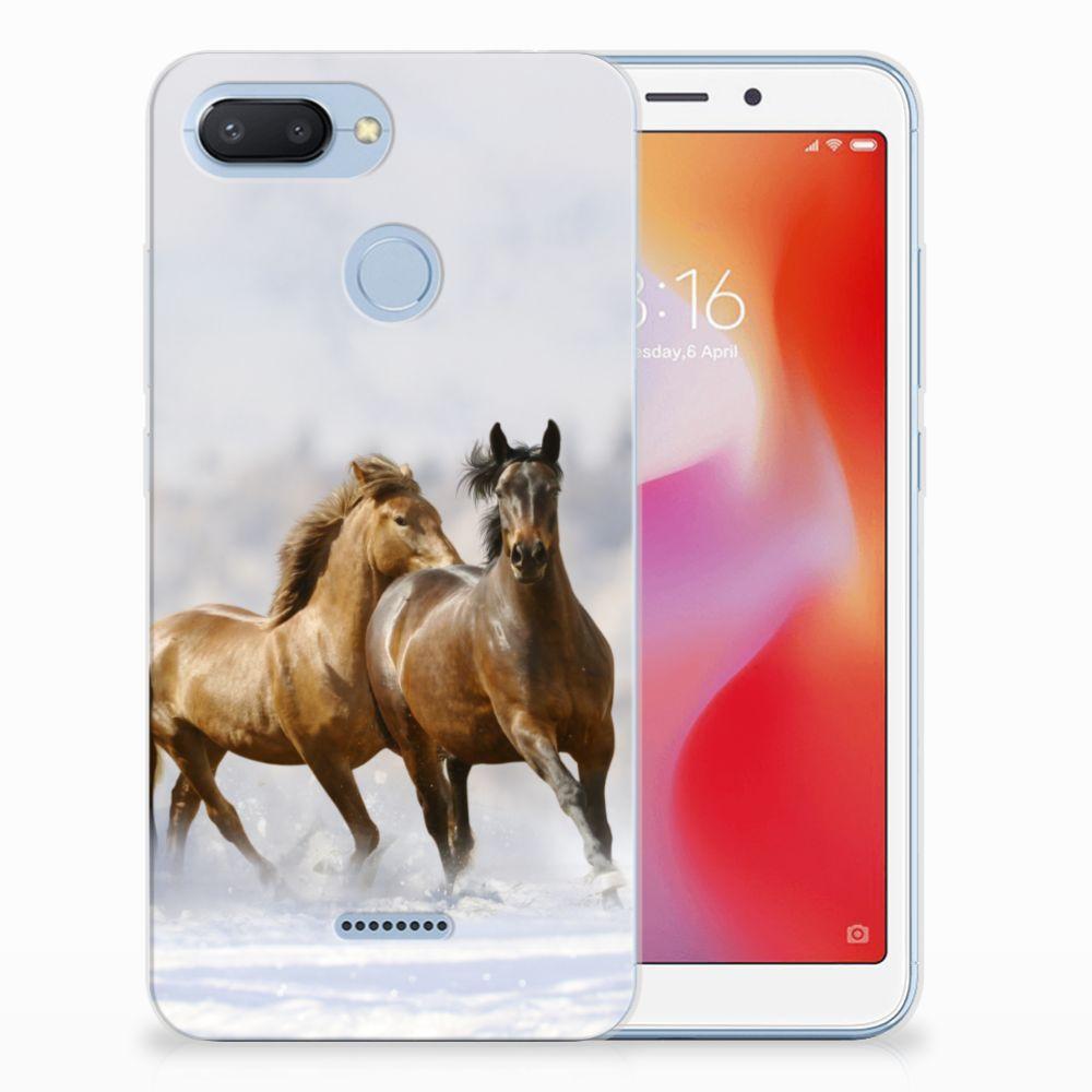 Xiaomi Redmi 6 Leuk Hoesje Paarden