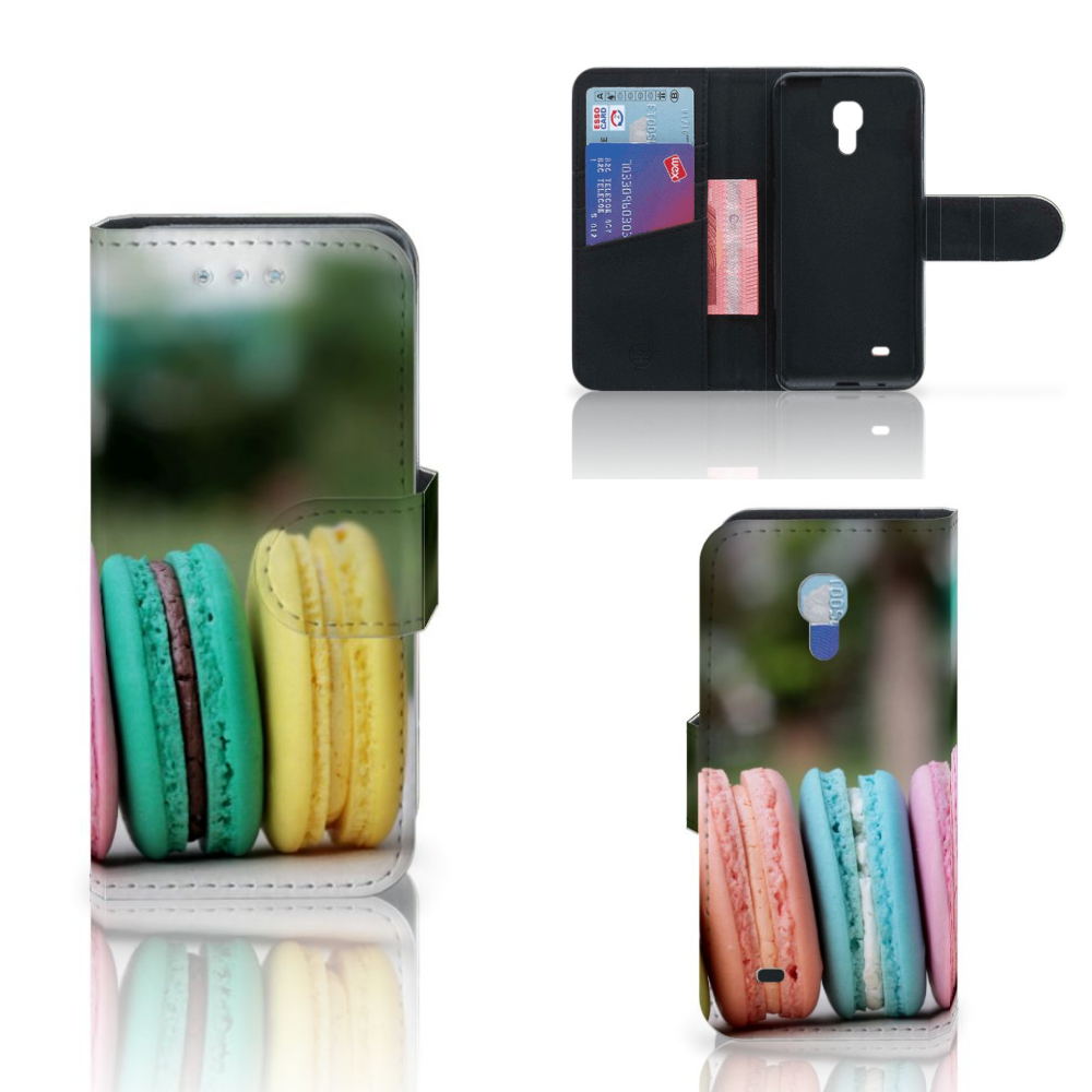 Samsung Galaxy S4 Mini i9190 Book Cover Macarons