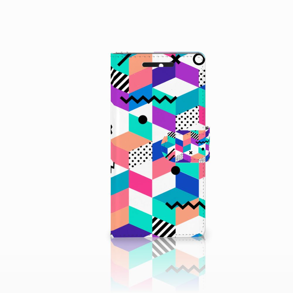 HTC Desire 628 Boekhoesje Design Blocks Colorful