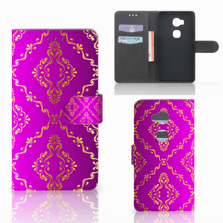 Wallet Case Huawei Honor 5X Barok Roze