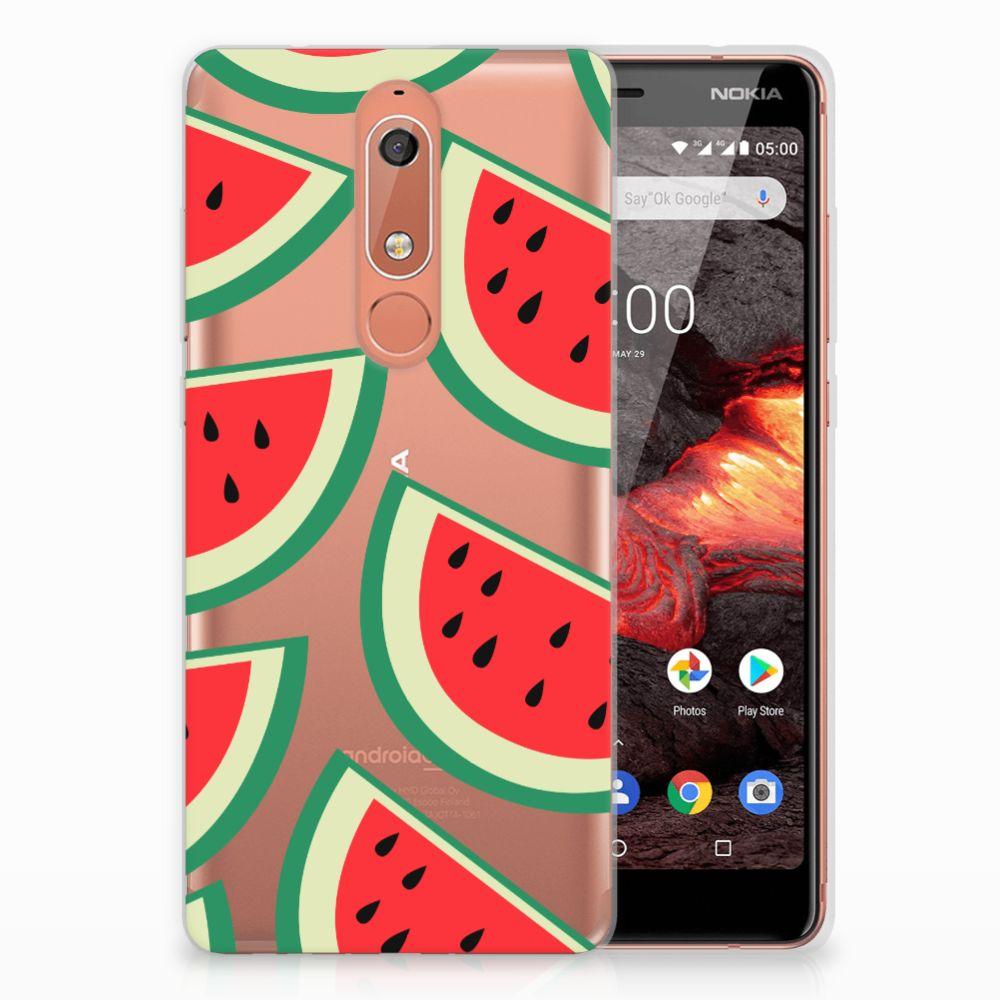 Nokia 5.1 (2018) Siliconen Case Watermelons