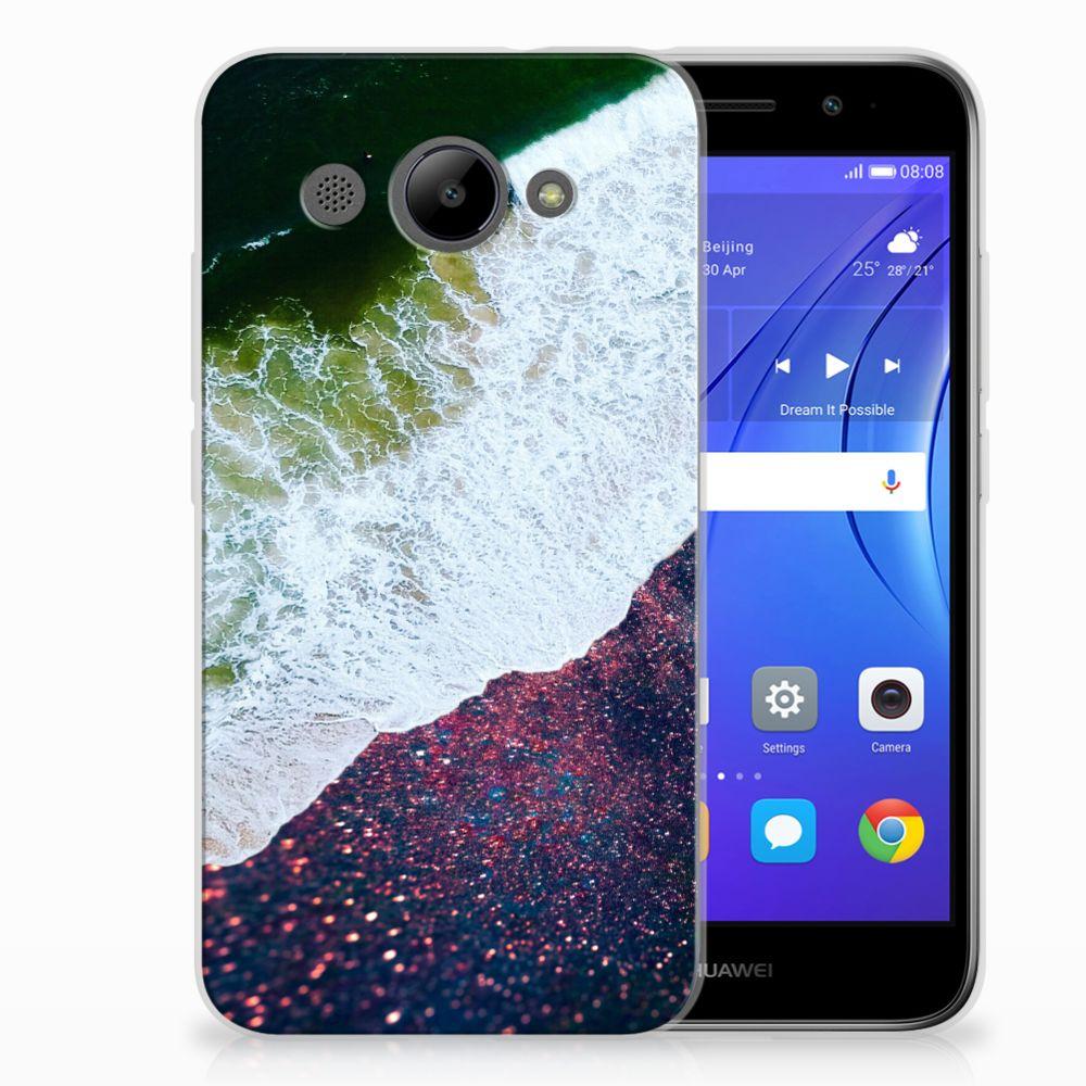 Huawei Y3 2017 TPU Hoesje Sea in Space