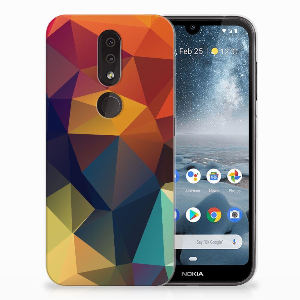 Nokia 4.2 TPU Hoesje Design Polygon Color