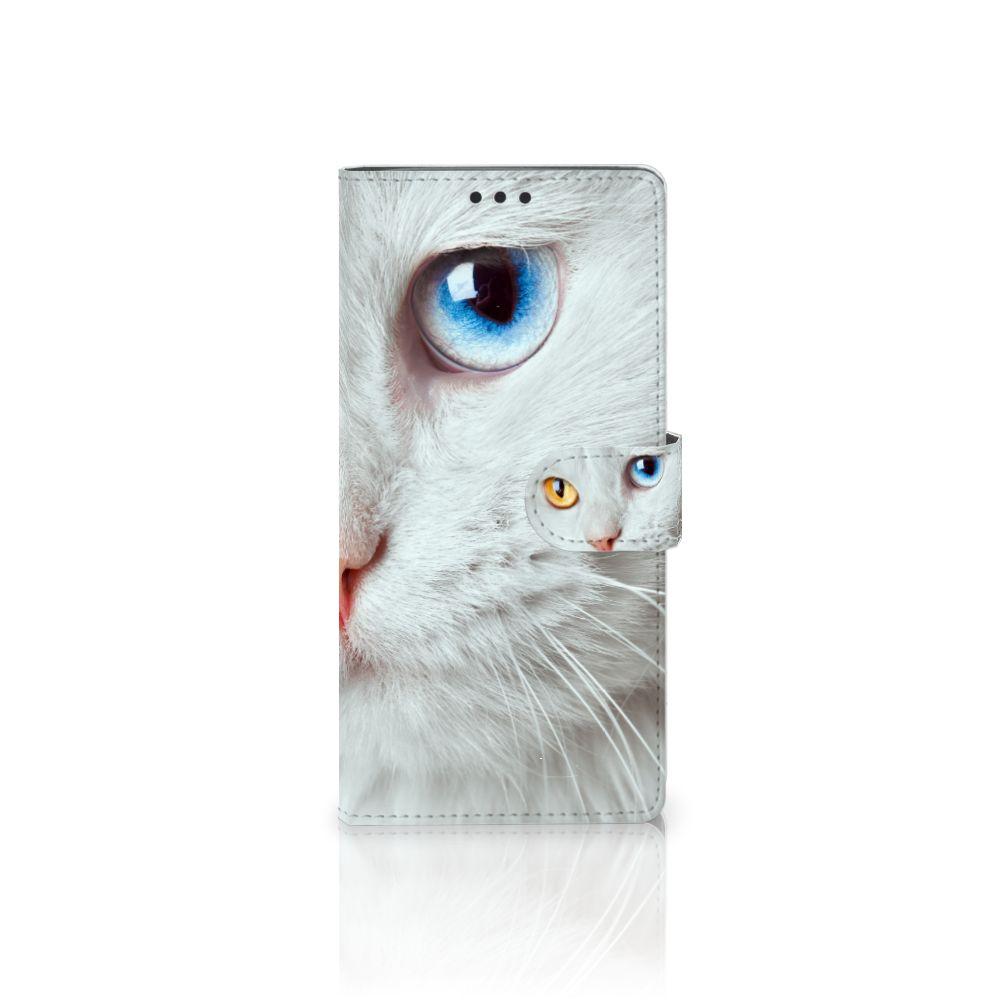 Sony Xperia XA Ultra Uniek Boekhoesje Witte Kat