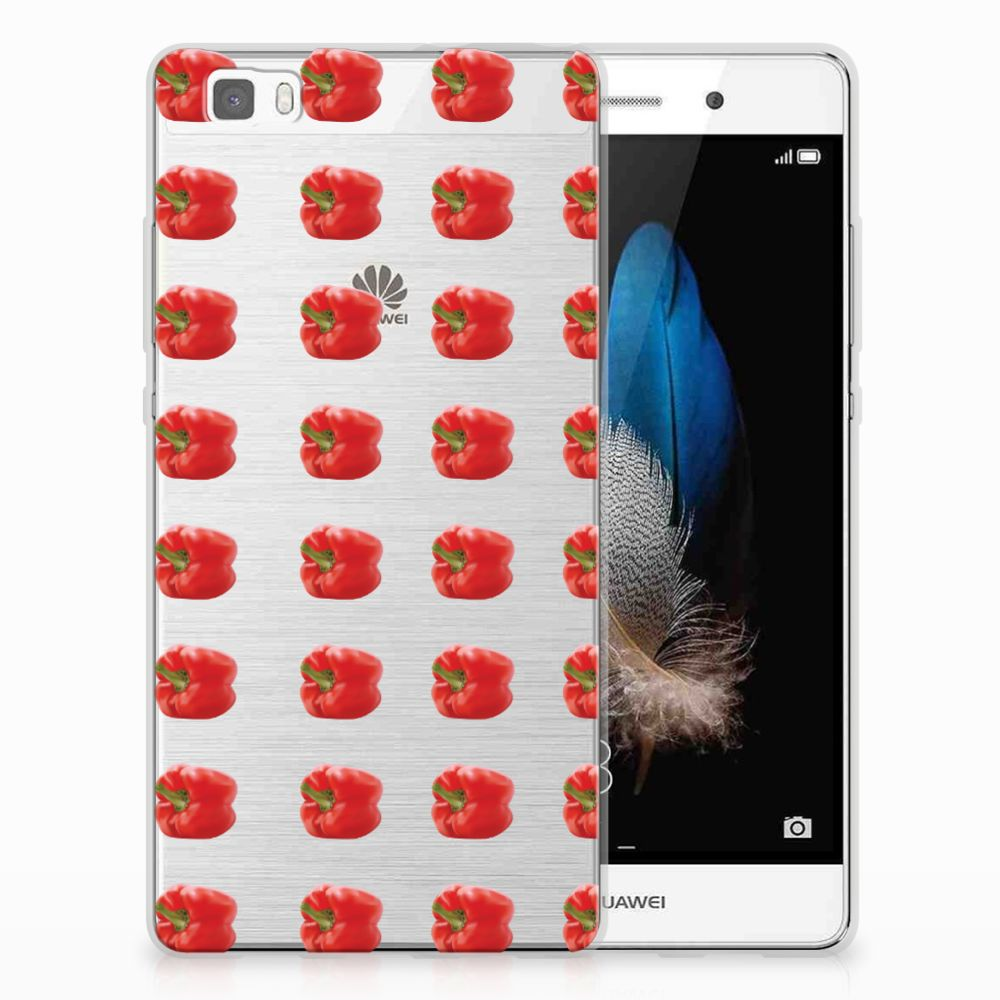 Huawei Ascend P8 Lite Siliconen Case Paprika Red