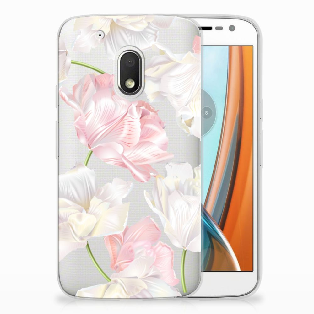 Motorola Moto G4 Play TPU Hoesje Design Lovely Flowers