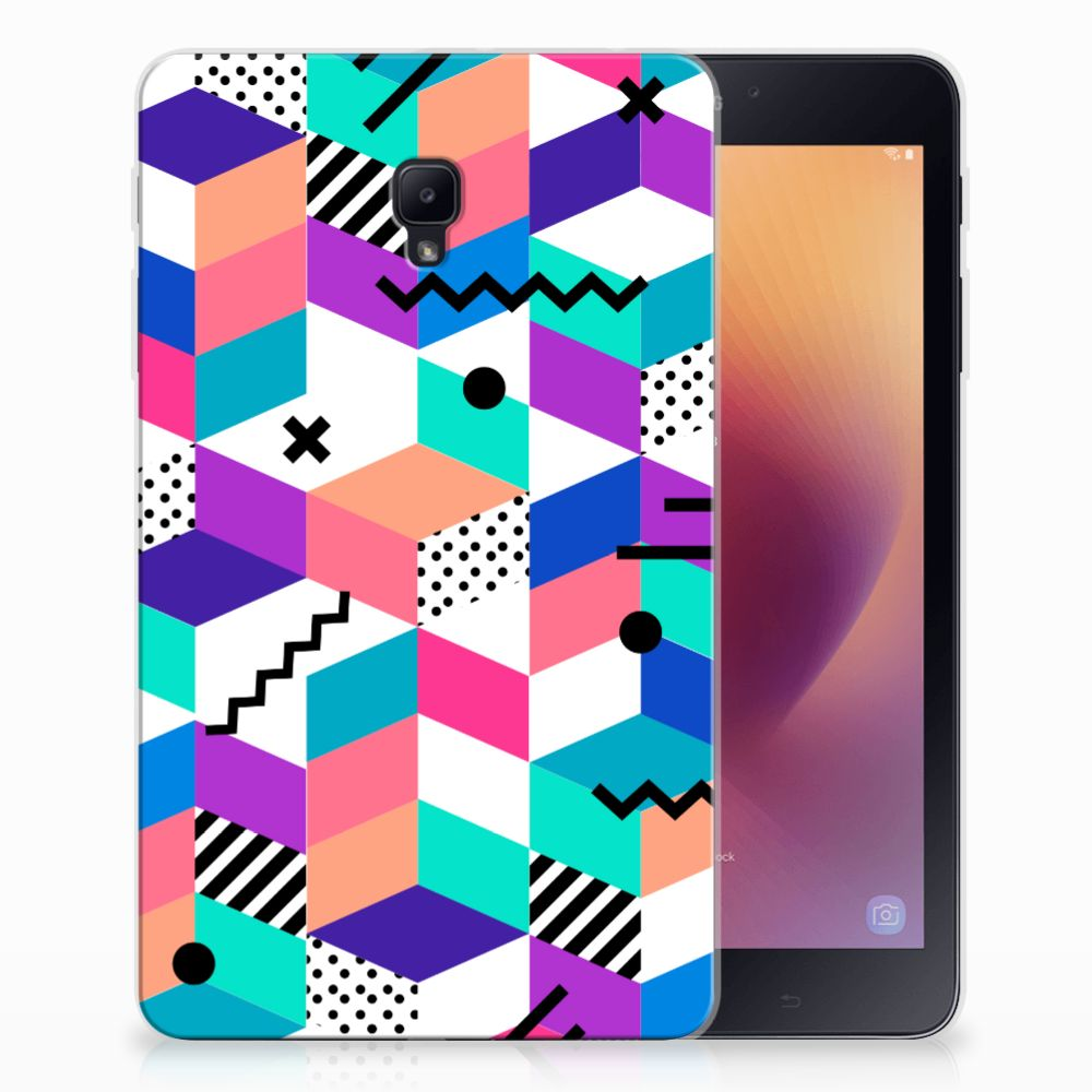 Samsung Galaxy Tab A 8.0 (2017) Back Cover Blokken Kleurrijk