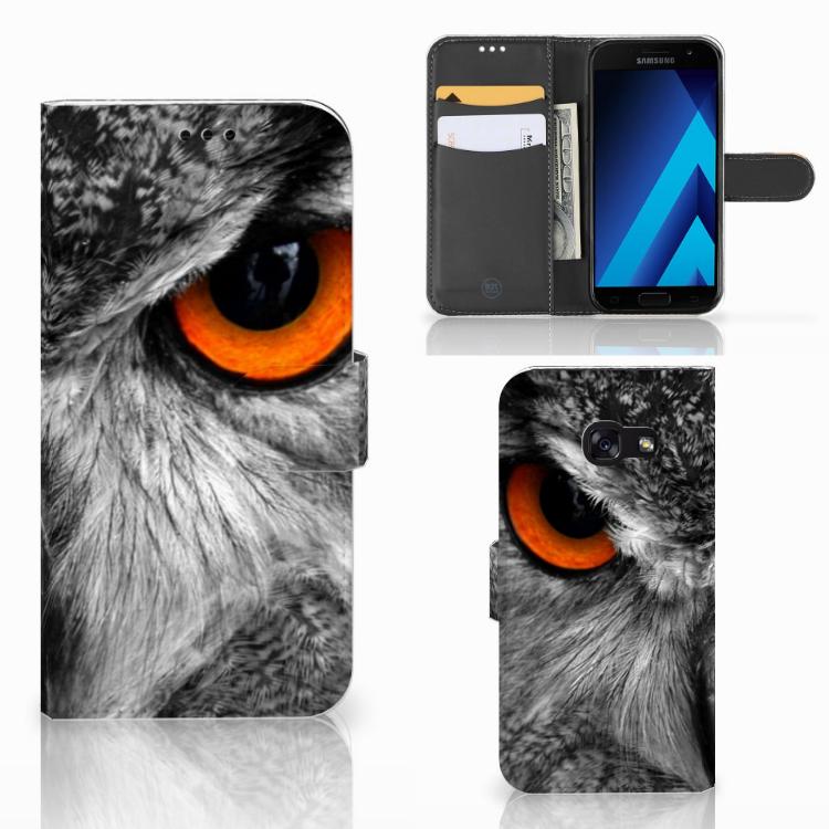 Samsung Galaxy A5 2017 Telefoonhoesje met Pasjes Uil