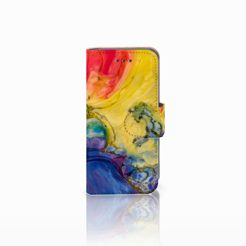 Apple iPod Touch 5   6 Uniek Boekhoesje Watercolor Dark