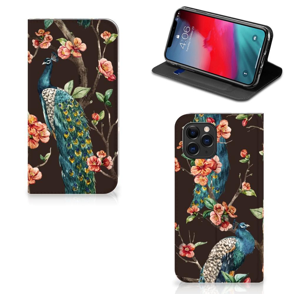 Apple iPhone 11 Pro Hoesje maken Pauw met Bloemen