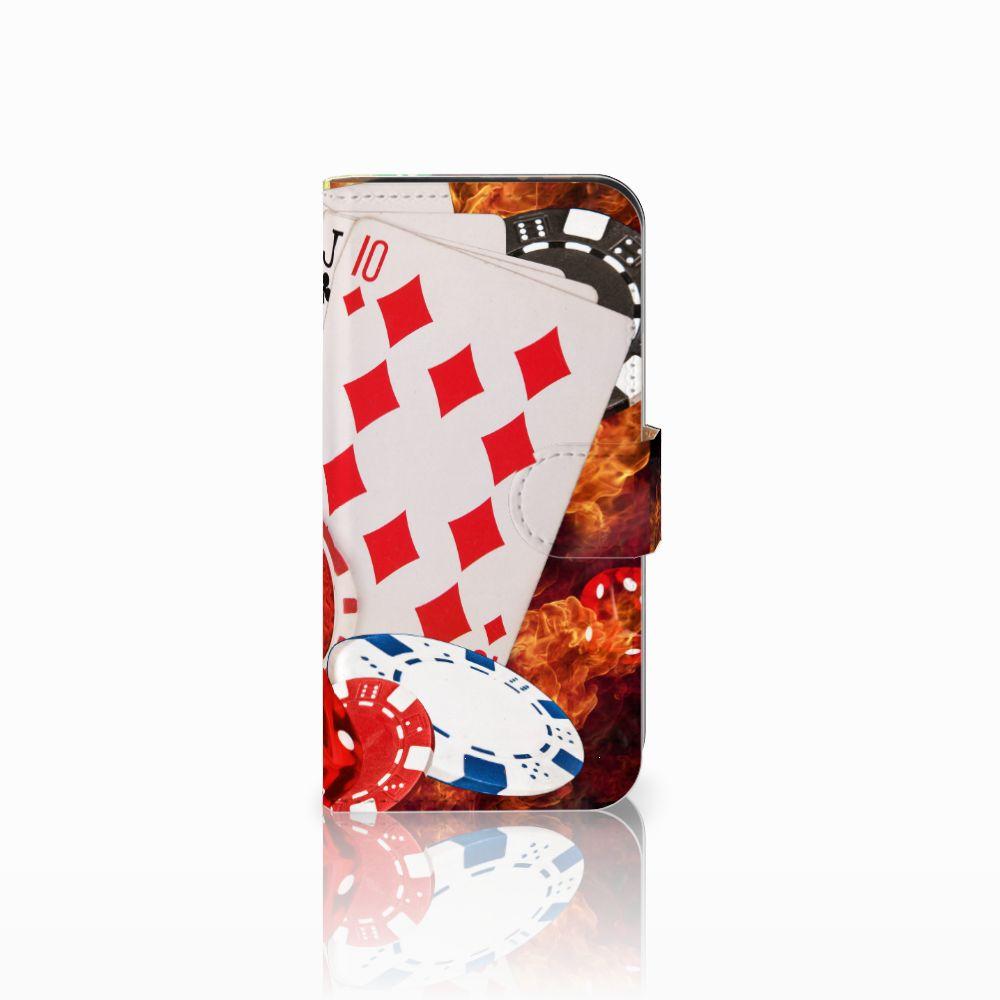 HTC One Mini 2 Uniek Boekhoesje Casino