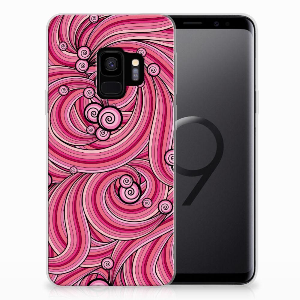 Samsung Galaxy S9 Hoesje maken Swirl Pink