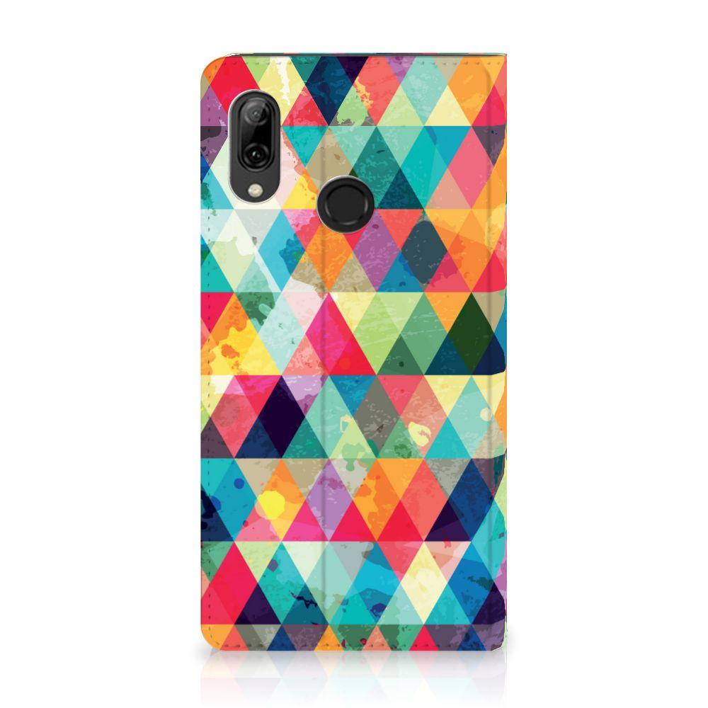 Huawei P Smart (2019) Uniek Standcase Hoesje Geruit