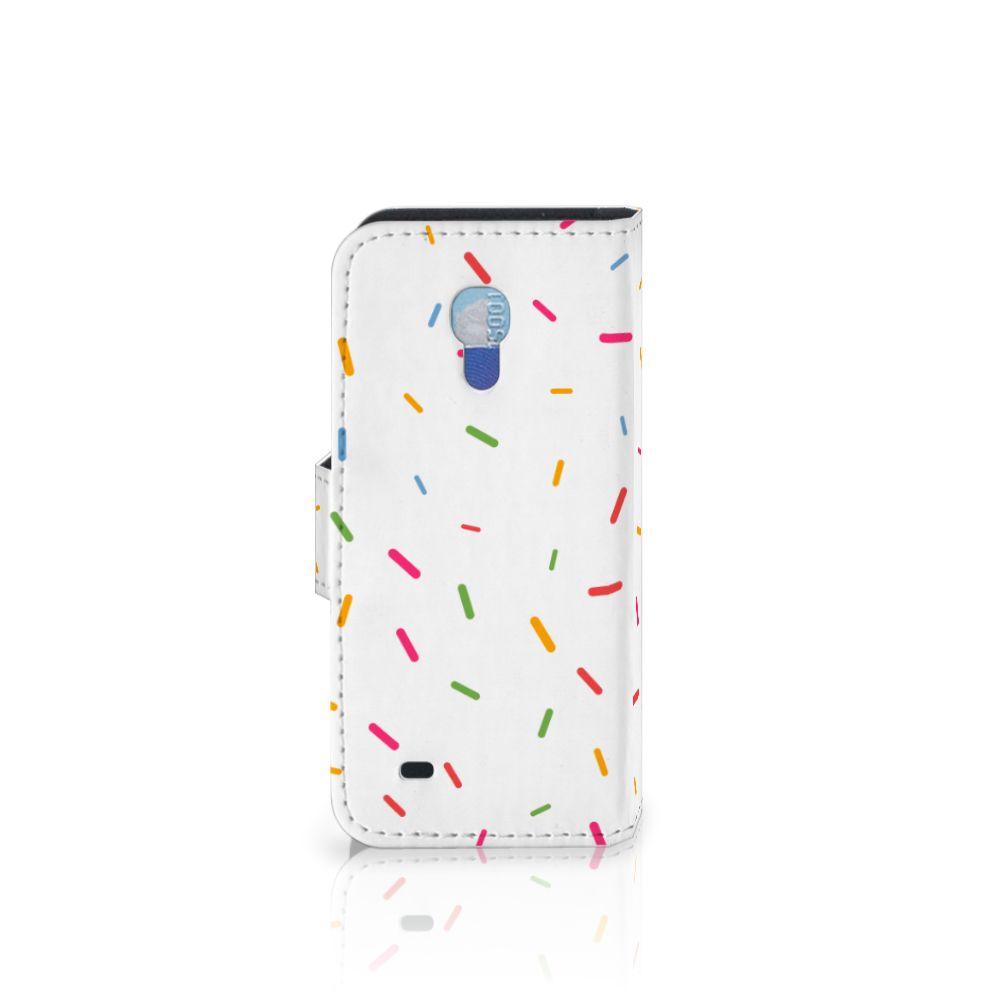 Samsung Galaxy S4 Mini i9190 Book Cover Donut Roze