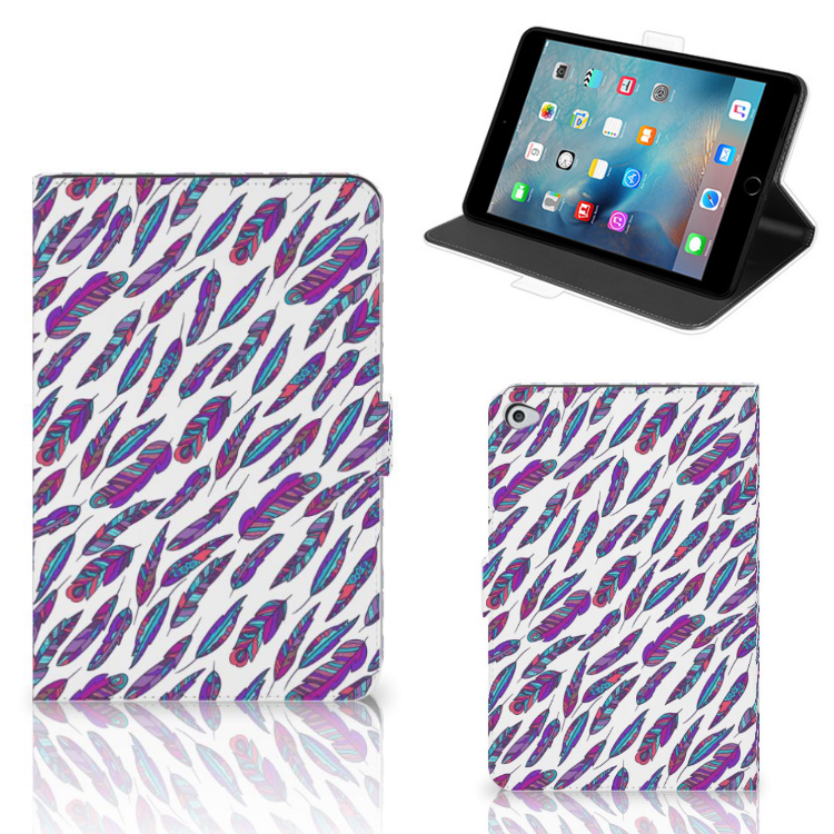 Apple iPad Mini 5 Tablet Hoes Feathers Color