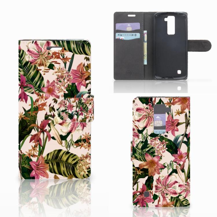 LG K10 2015 Hoesje Flowers
