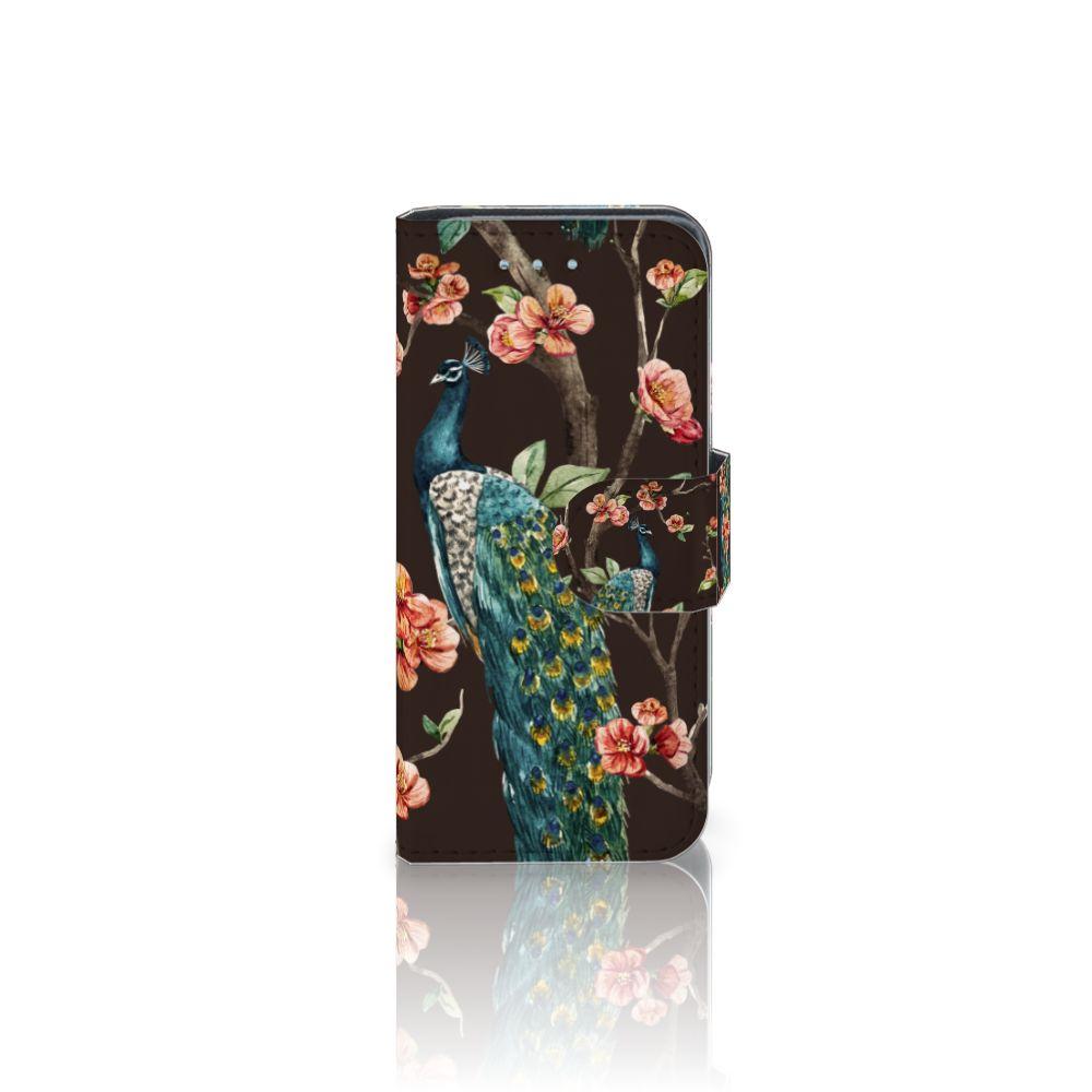 Samsung Galaxy S4 Mini i9190 Boekhoesje Design Pauw met Bloemen