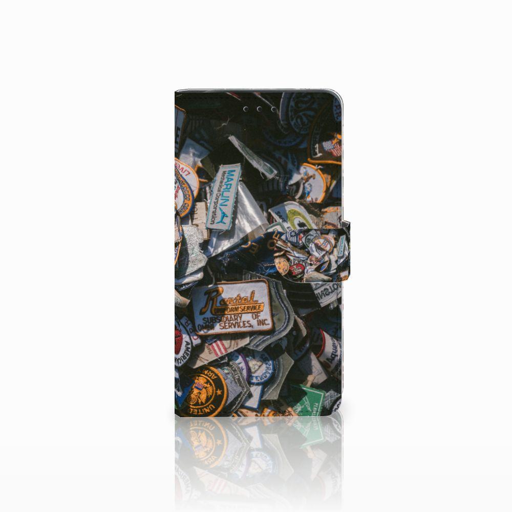 Samsung Galaxy J6 Plus (2018) Uniek Boekhoesje Badges