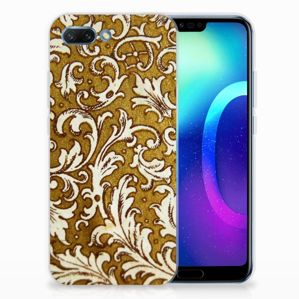 Siliconen Hoesje Huawei Honor 10 Barok Goud