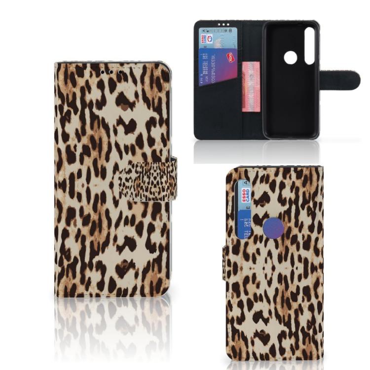 Motorola Moto G8 Plus Telefoonhoesje met Pasjes Leopard