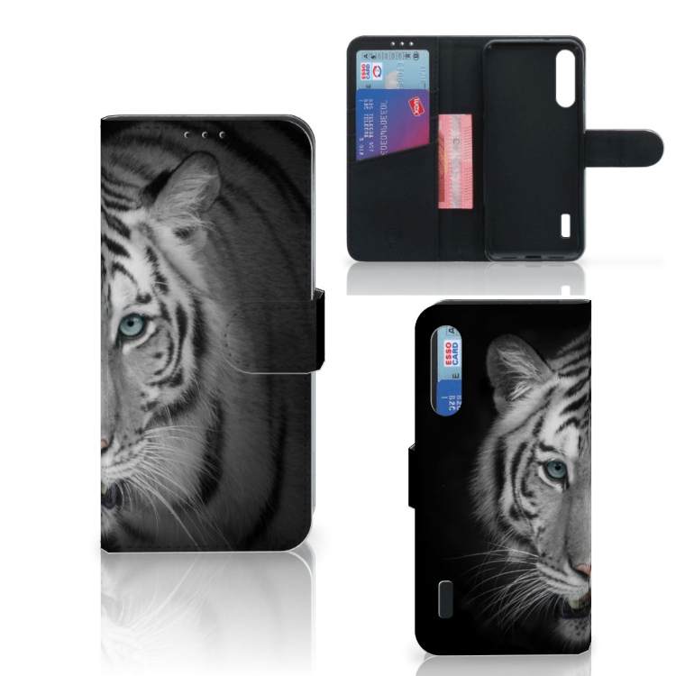 Xiaomi Mi A3 Telefoonhoesje met Pasjes Tijger