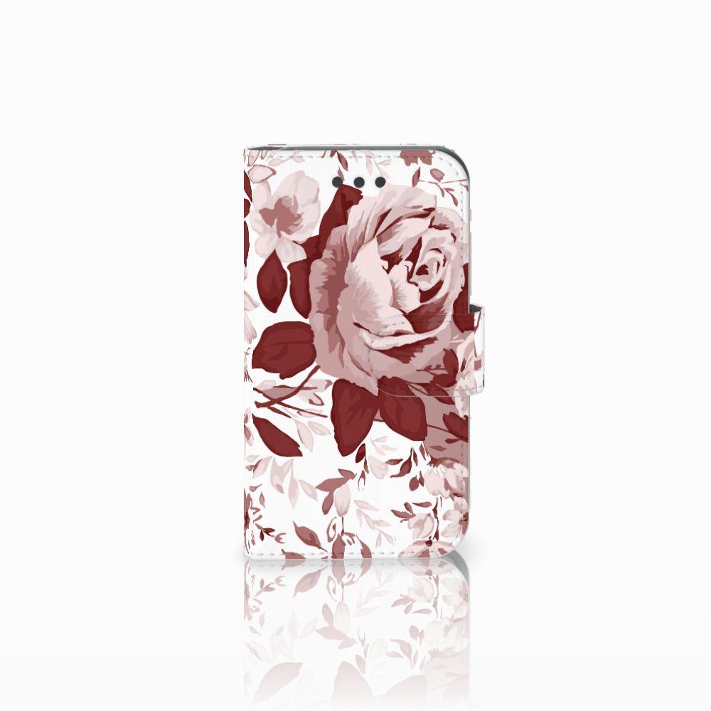 Samsung Galaxy Core 2 Uniek Boekhoesje Watercolor Flowers