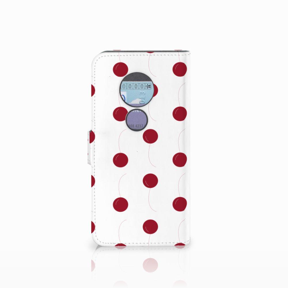 Motorola Moto G6 Play Book Cover Cherries