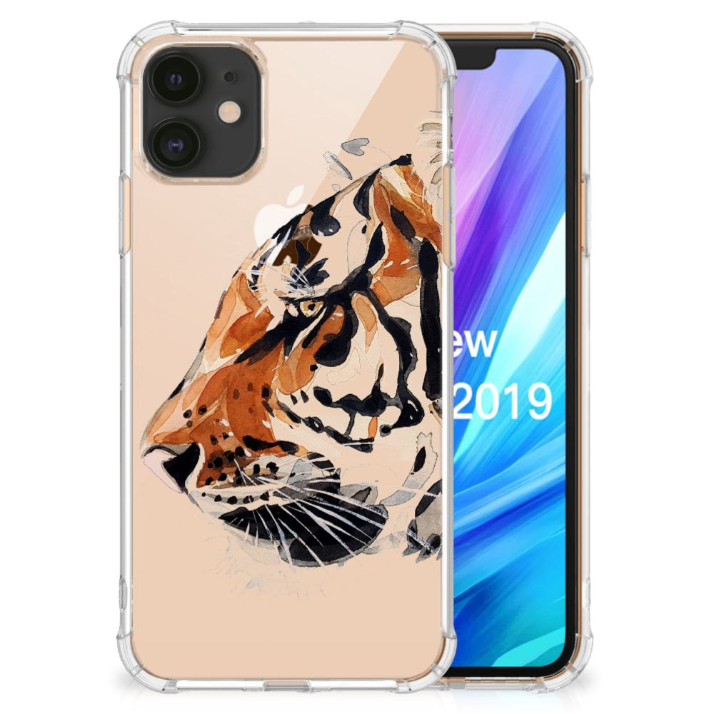 Back Cover Apple iPhone 11 Watercolor Tiger