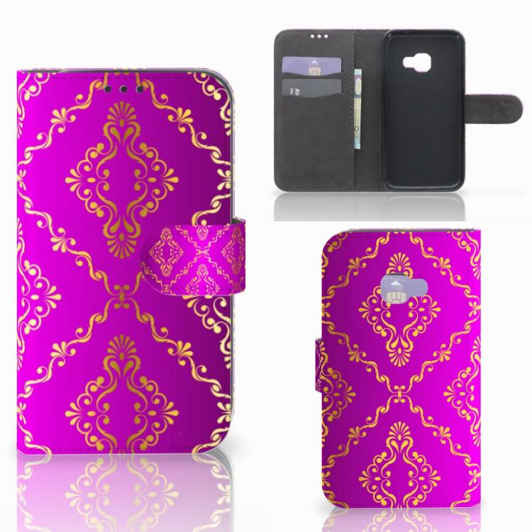 Wallet Case Samsung Galaxy Xcover 4   Xcover 4s Barok Roze