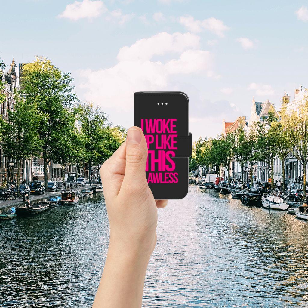Apple iPhone 5 | 5s | SE Hoesje met naam Woke Up - Origineel Cadeau Zelf Maken