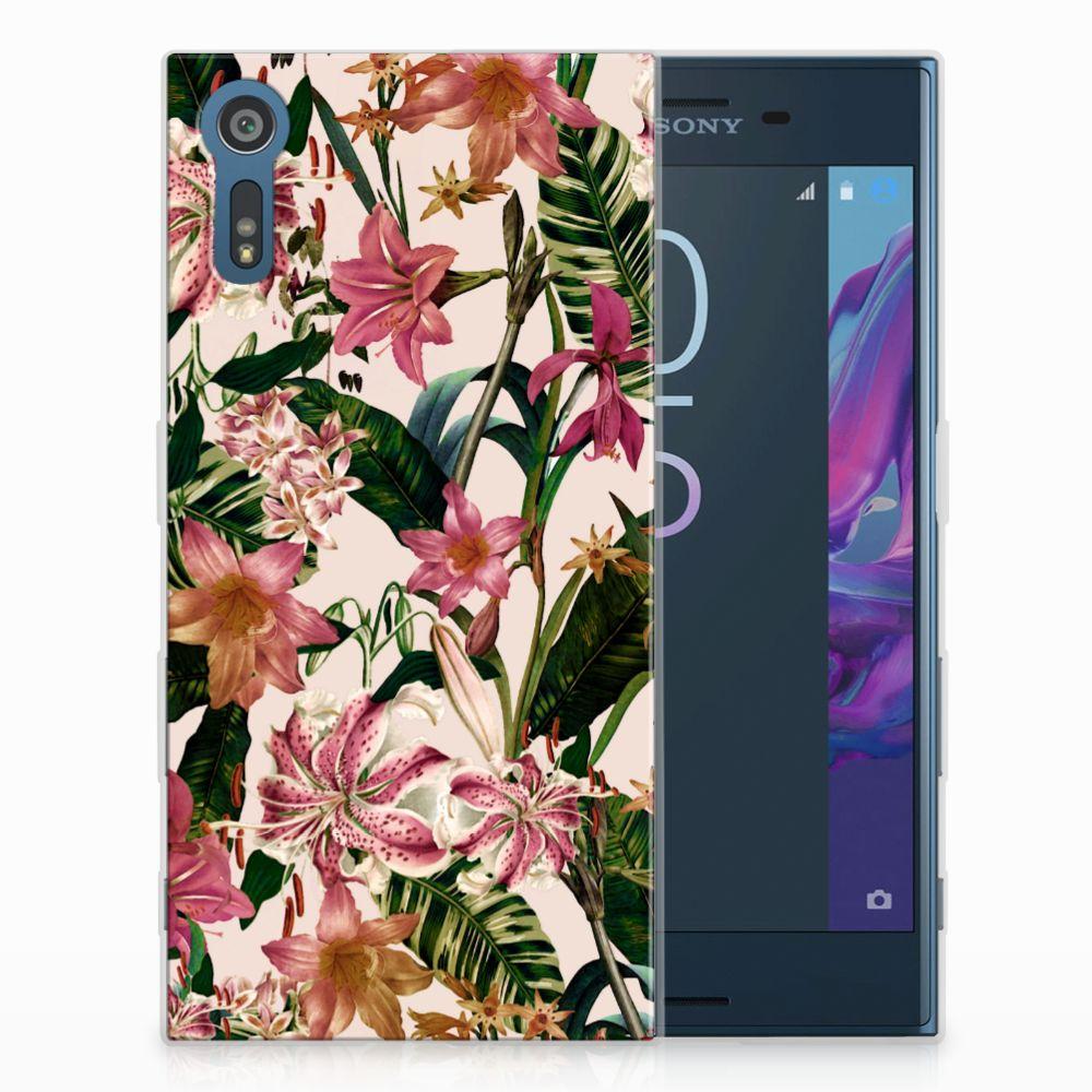 Sony Xperia XZs | XZ Uniek TPU Hoesje Flowers