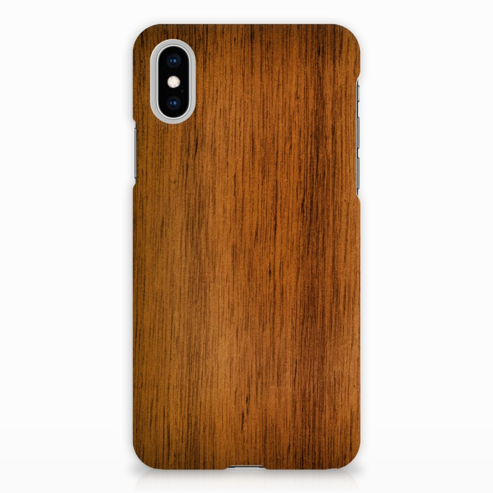 Apple iPhone X | Xs Backcase Donker Hout