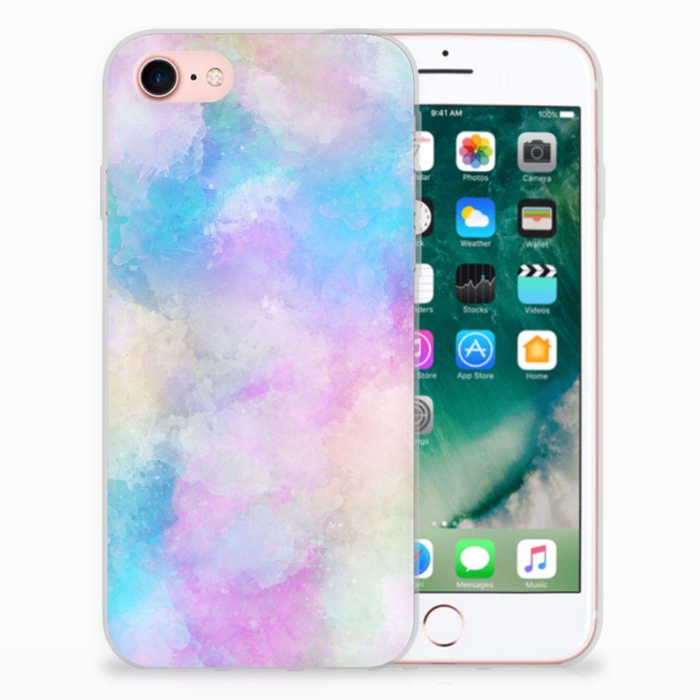 Apple iPhone 7 | 8 Uniek TPU Hoesje Watercolor Light
