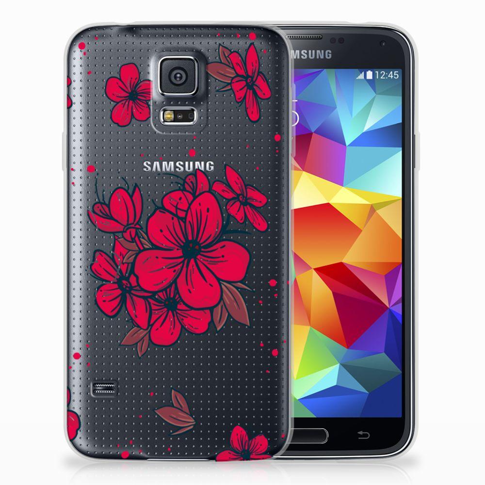 Samsung Galaxy S5 TPU Hoesje Design Blossom Red