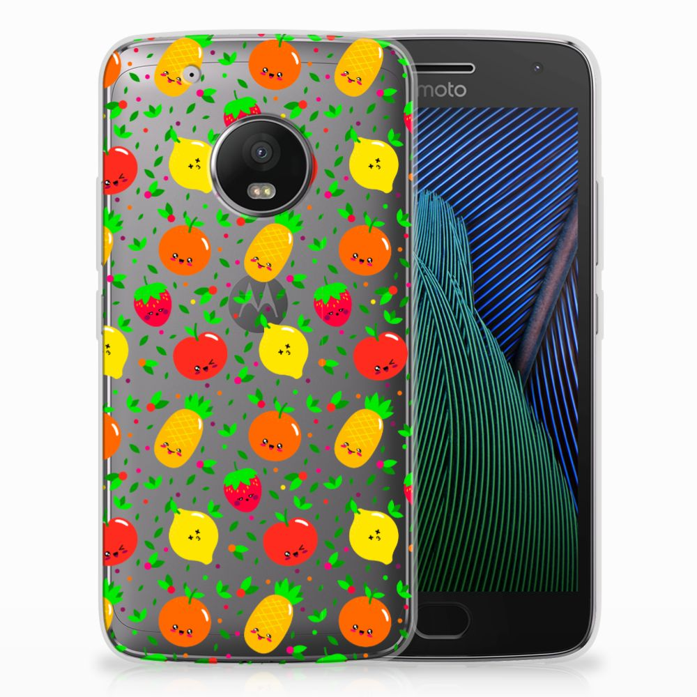 Motorola Moto G5 Plus Siliconen Case Fruits