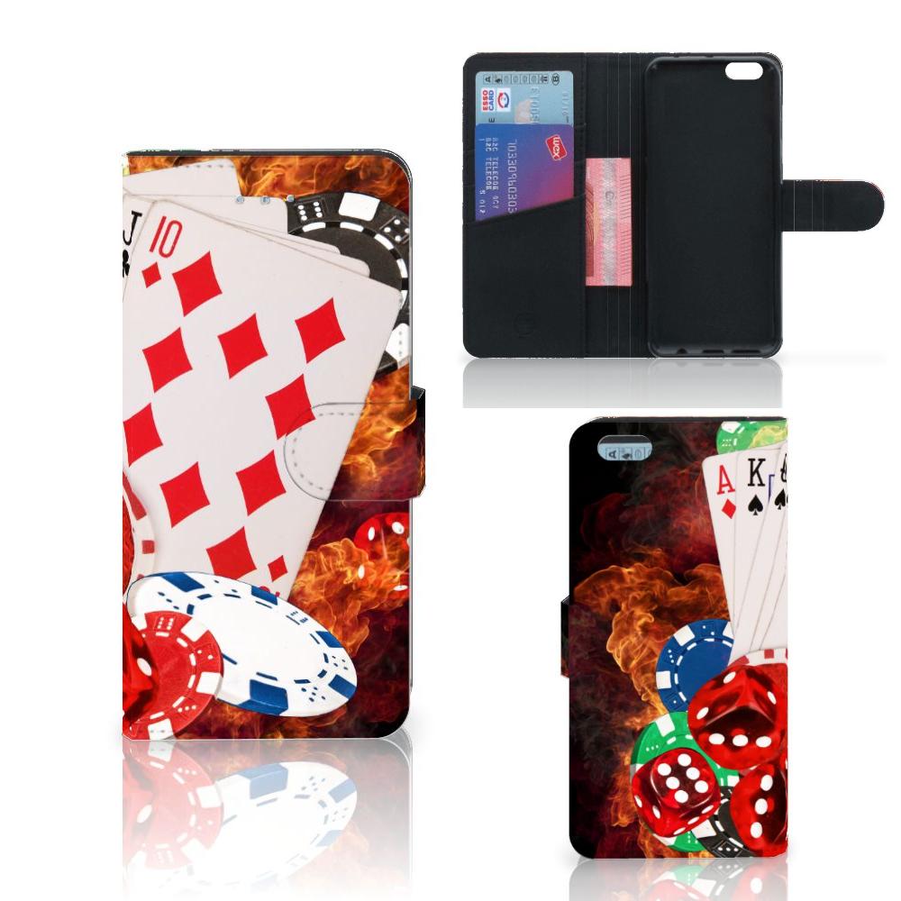 Apple iPhone 6 Plus | 6s Plus Wallet Case met Pasjes Casino