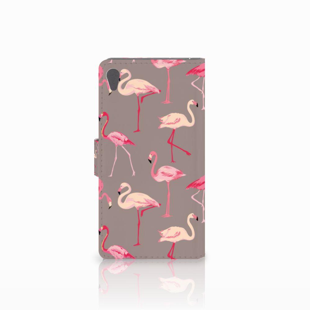 Sony Xperia E5 Telefoonhoesje met Pasjes Flamingo